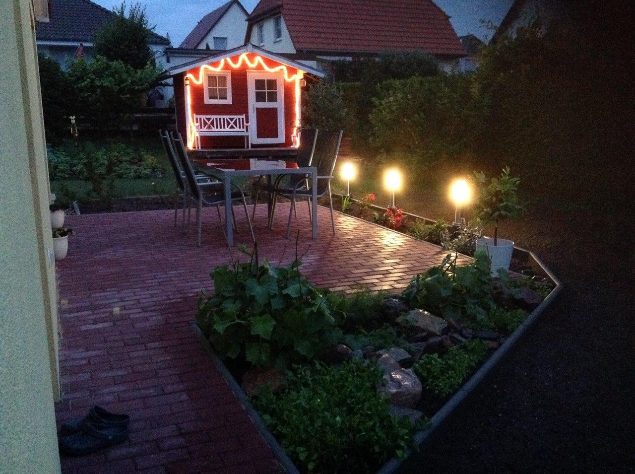 Einfamilienhaus Sennewitz - Terrasse am Abend