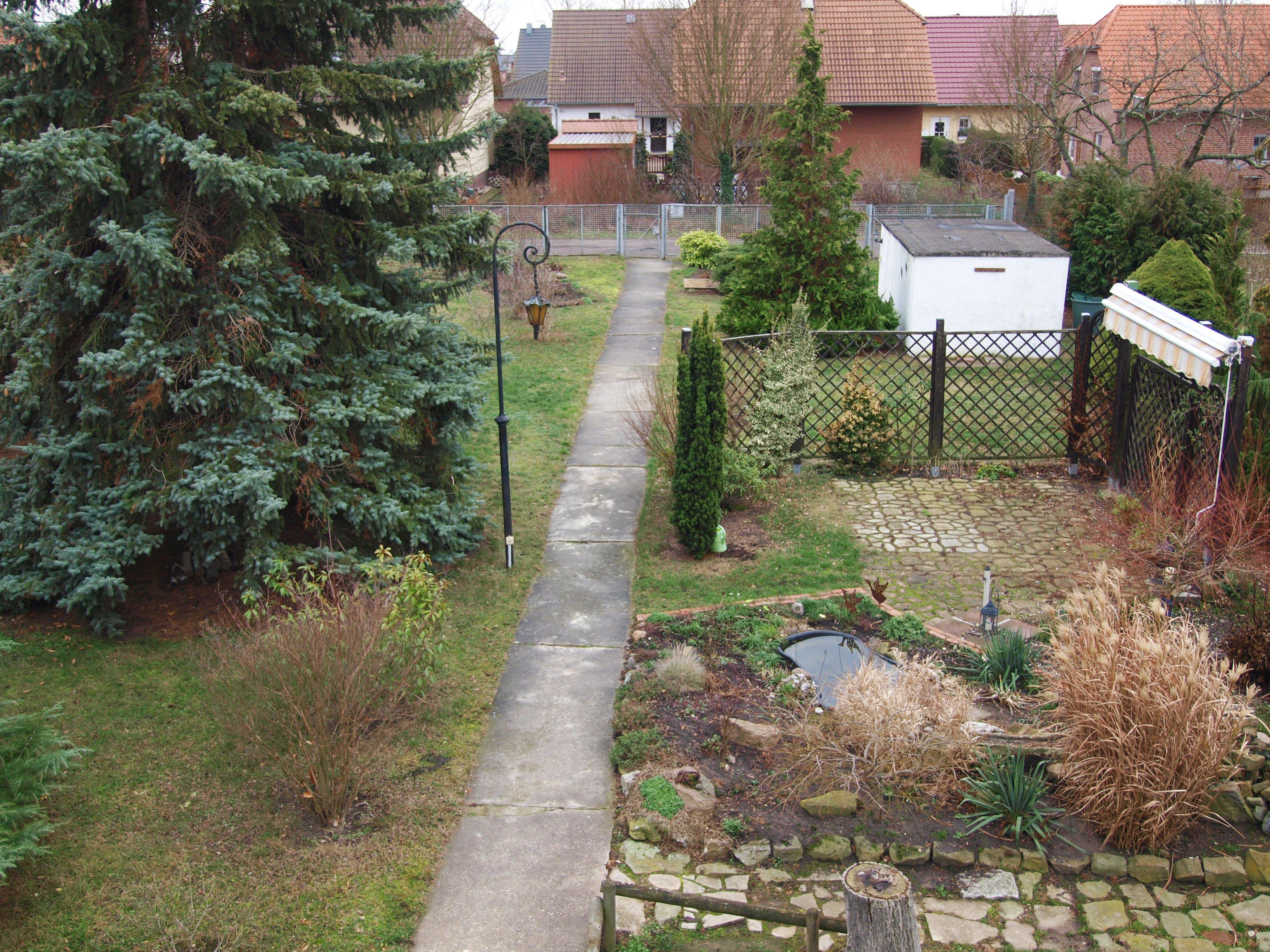 Einfamilienhaus Wörmlitz - Ausblick/Überblick auf das großzügige wundervoll angelegte Grundstück