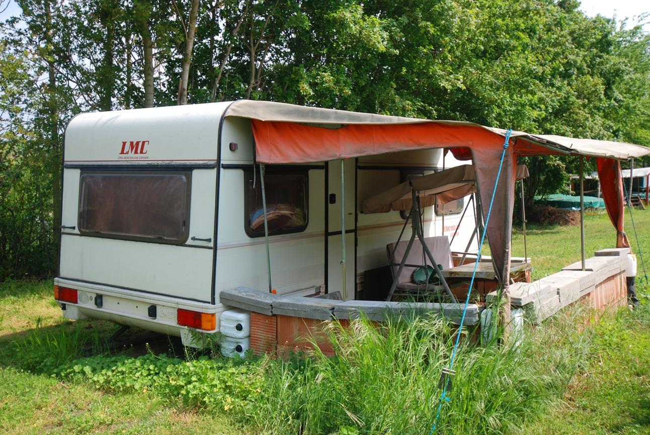 Wochenendgrundstück Seeburg - Wohnwagen auf dem Grundstück