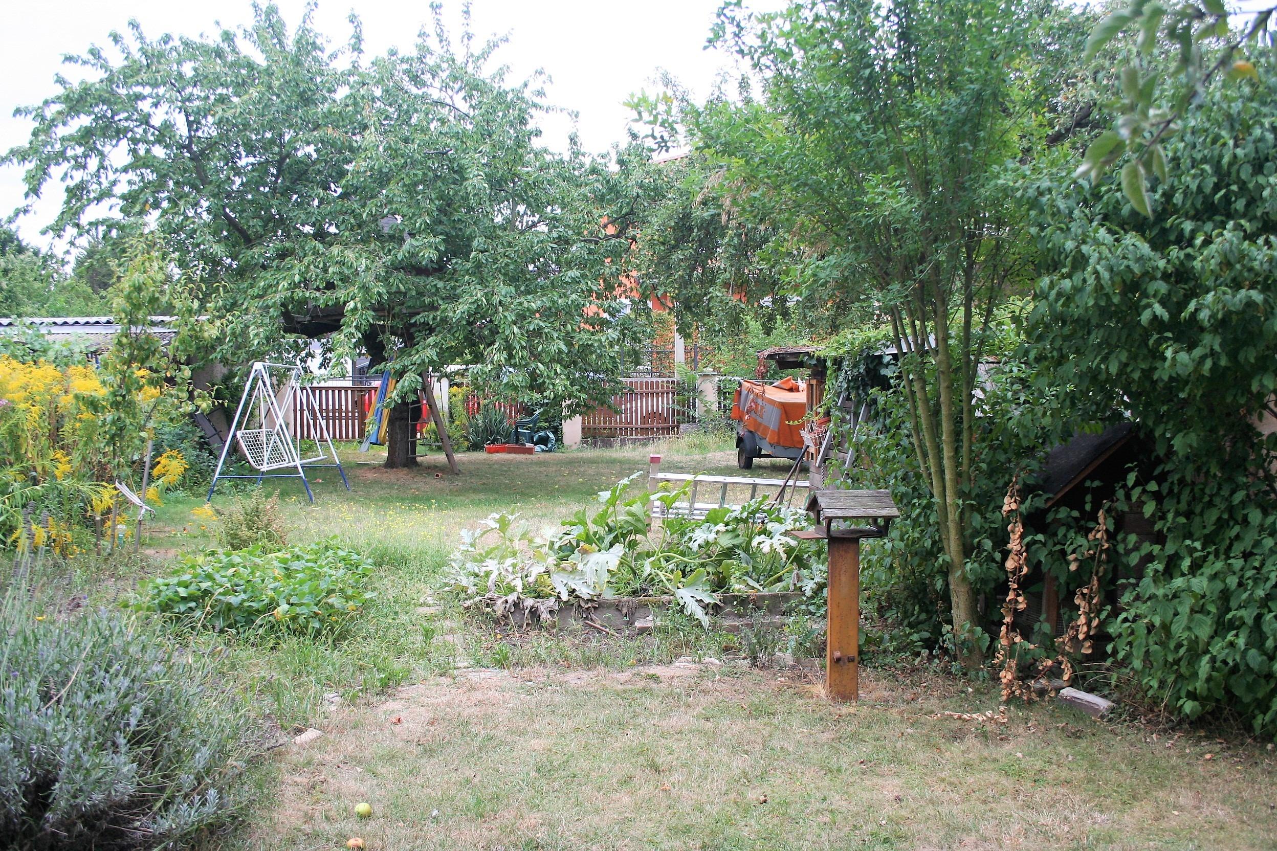 Einfamilienhaus Frohe Zukunft - Blick in den Garten