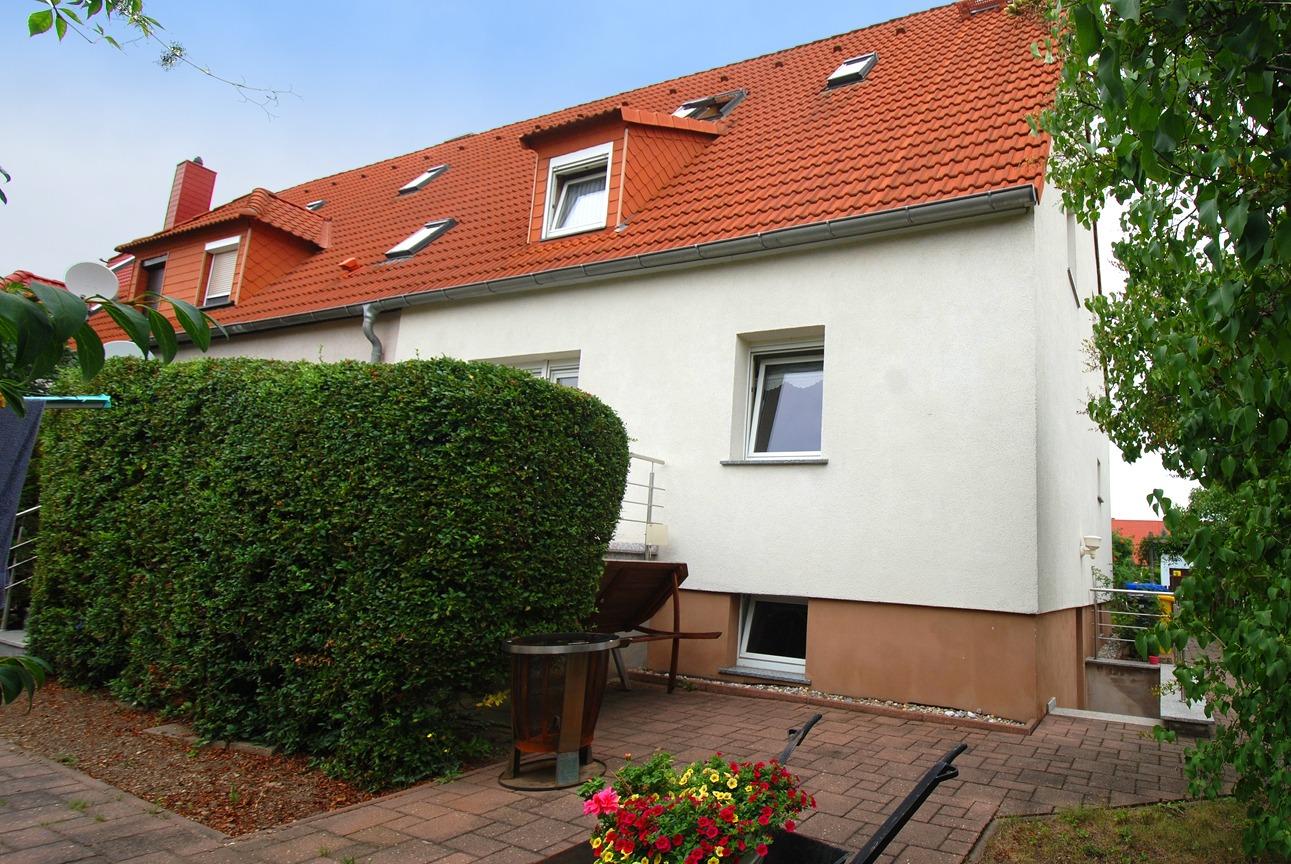 Einfamilienhaus Leuna - Gartenseite vom Haus