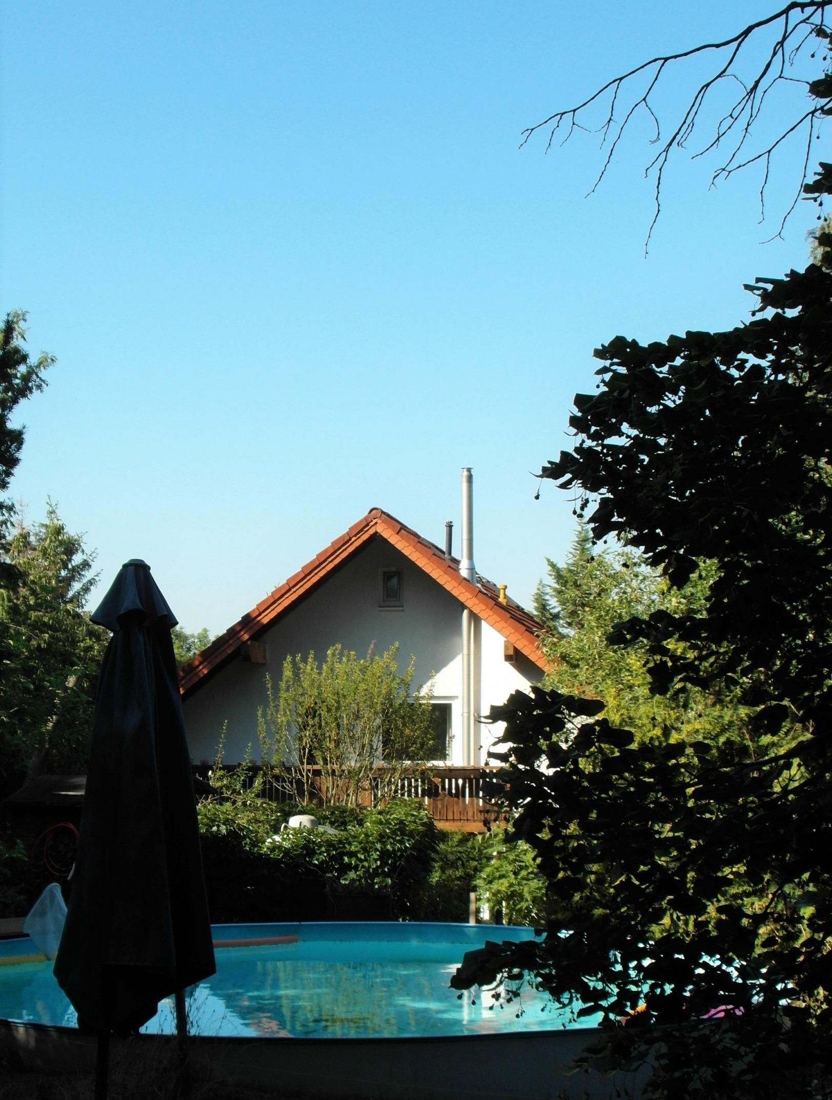 Einfamilienhaus Rothenburg - Blick vom Pool