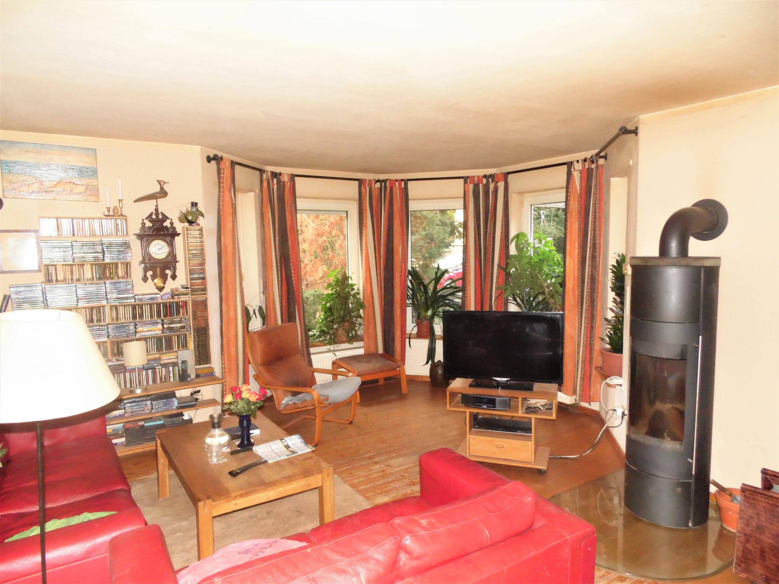 Einfamilienhaus Rothenburg - großzügiges und helles Wohnzimmer