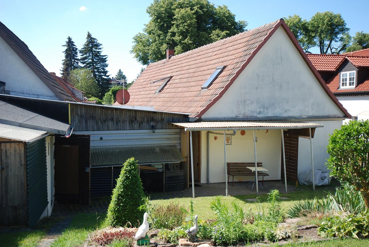 Einfamilienhaus Schmalzerode - Blick vom Garten