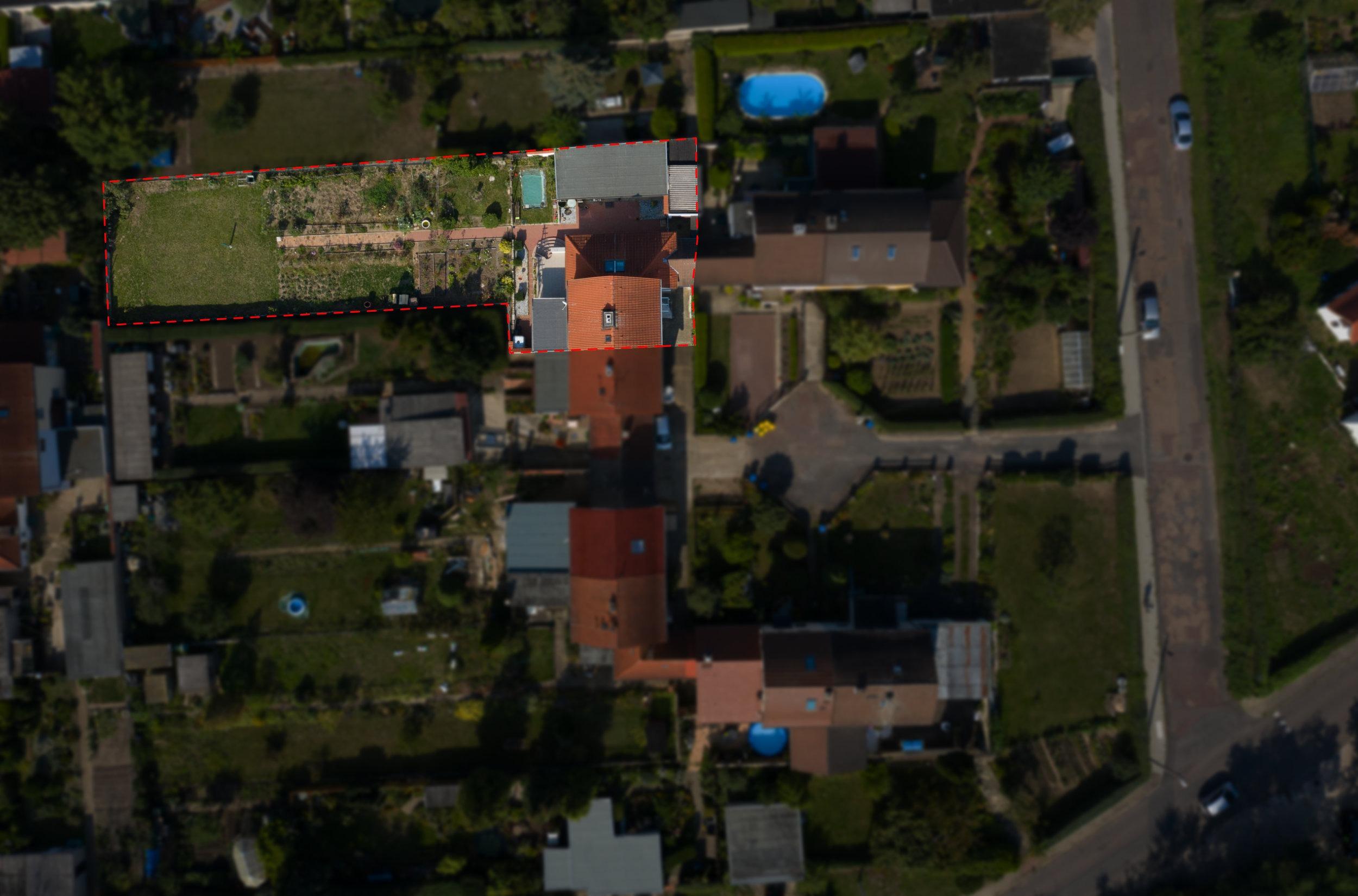 Einfamilienhaus Ellernstraße - Luftbildaufnahme oben