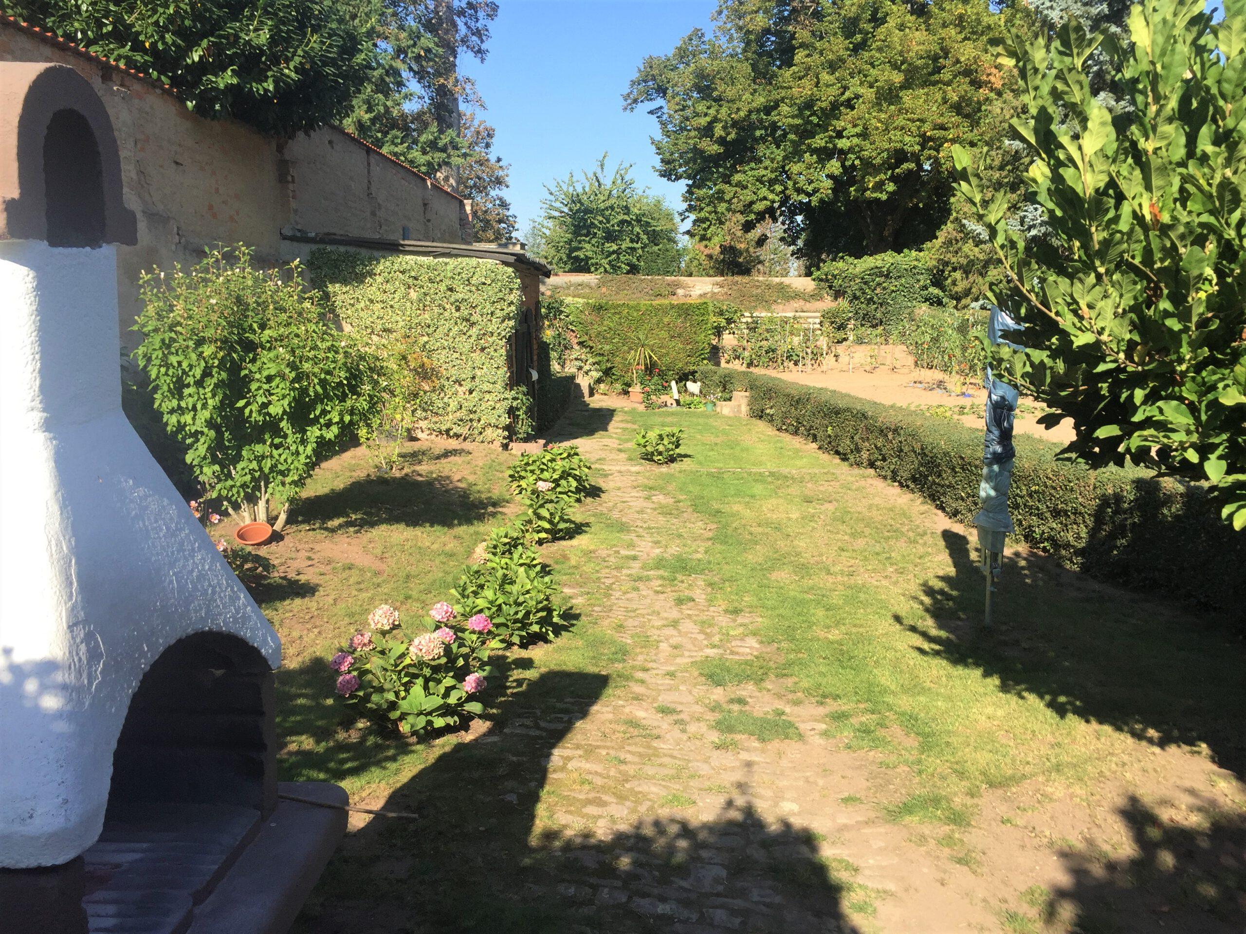 Einfamilienhaus in Gnölbzig - Blick in den Garten