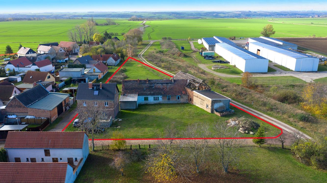 Einfamilienhaus Lettewitz - Luftbild Gesamtes Grundstück