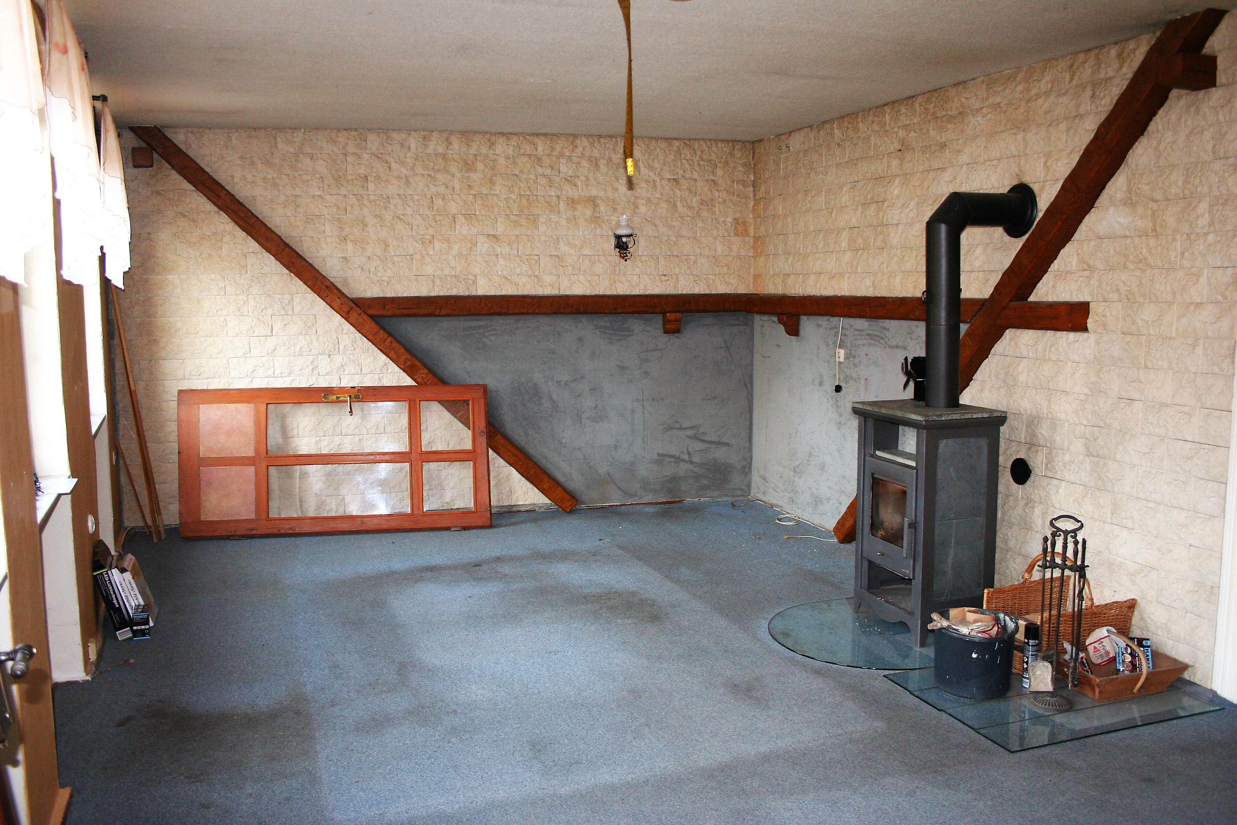 Einfamilienhaus Nietleben - Wohnzimmer mit Kaminofen