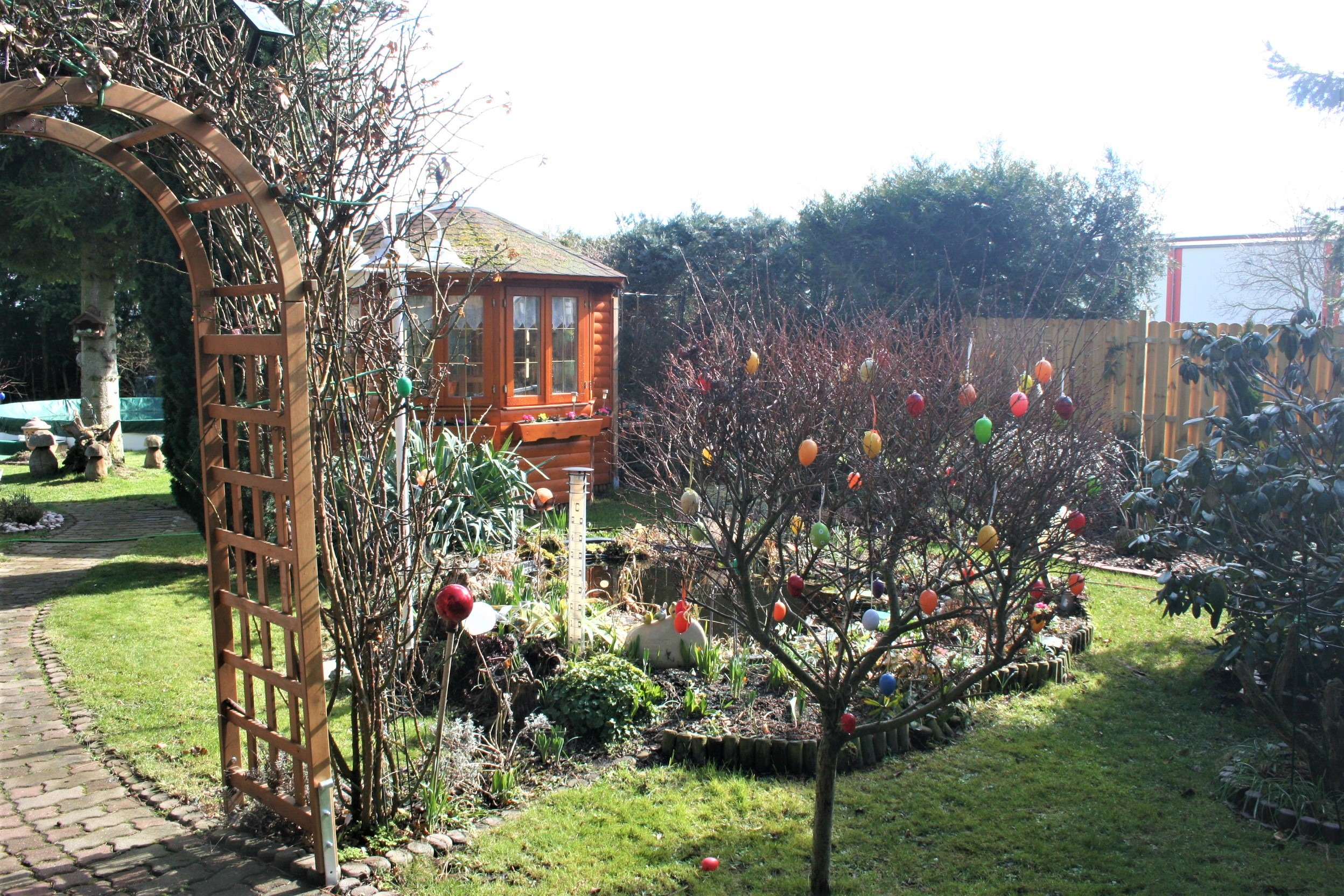 Mehrfamilienhaus/Pension in Peißen - Gartendetail