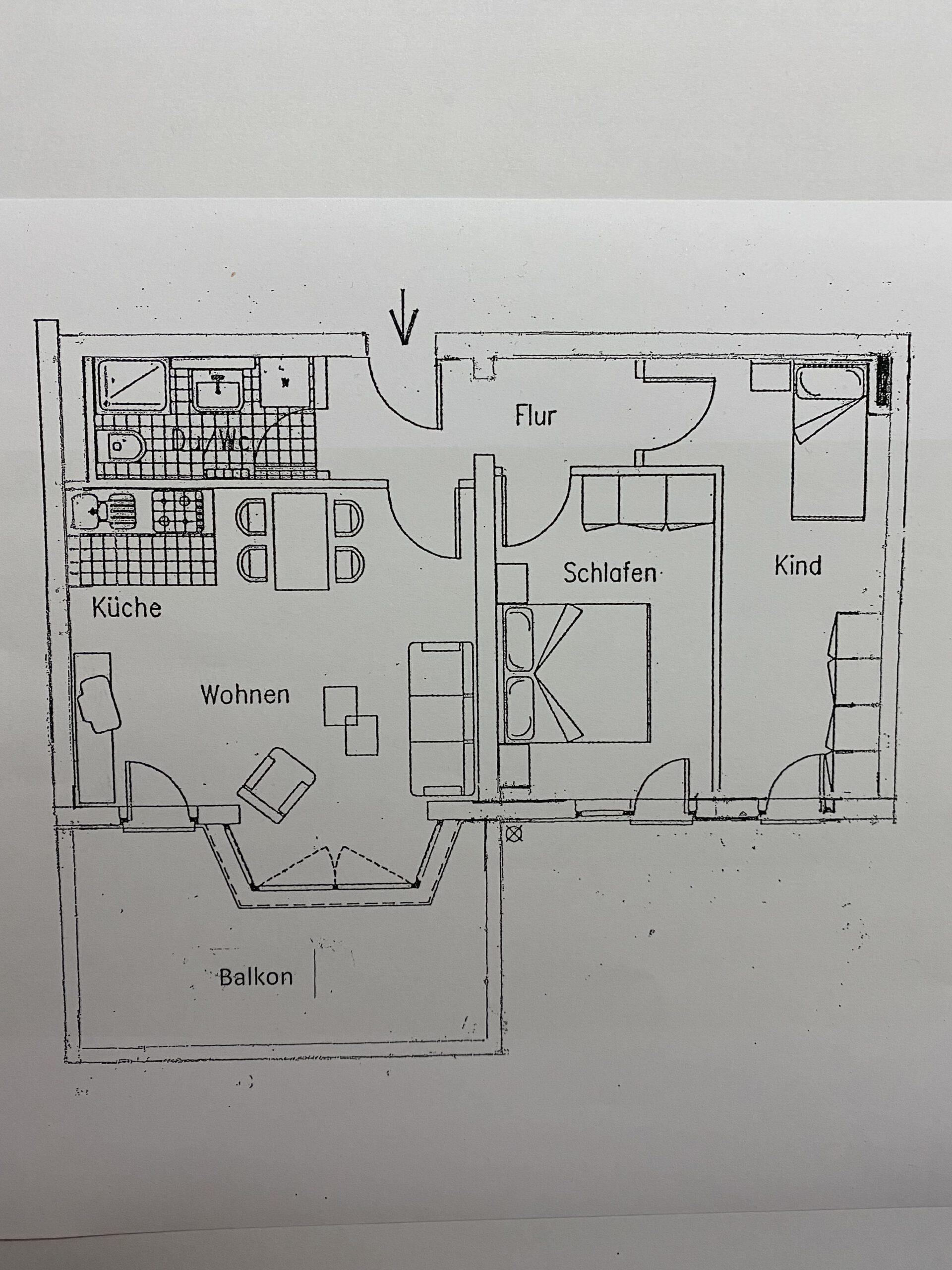 Eigentumswohnung Diemitz - Grundriss