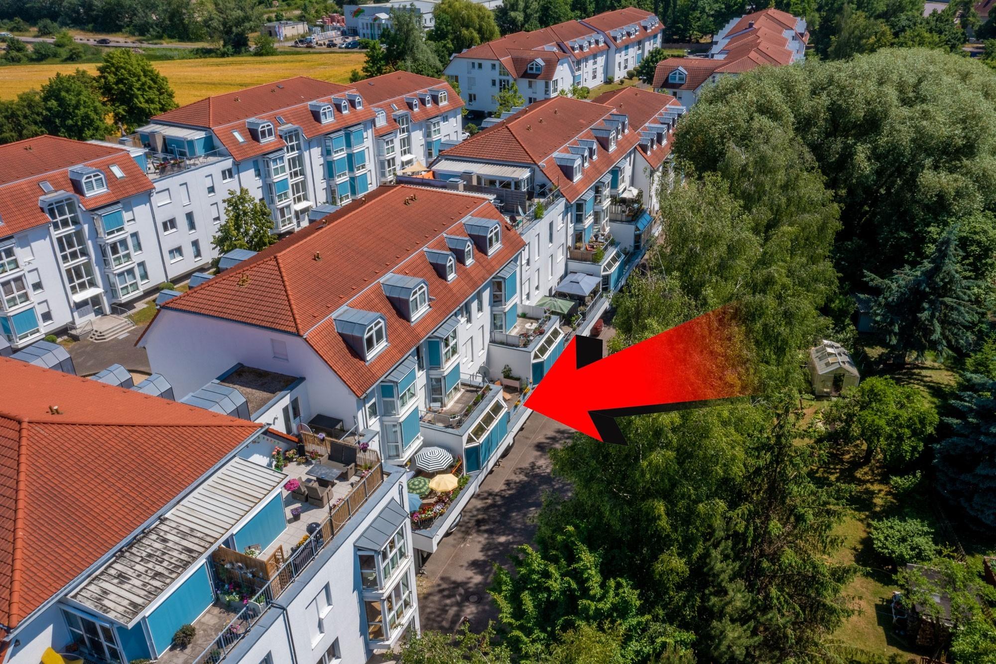 Eigentumswohnung Diemitz - Luftbildaufnahme