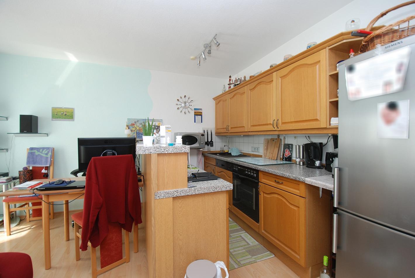 Eigentumswohnung Diemitz - offener Küchen-Wohnbereich